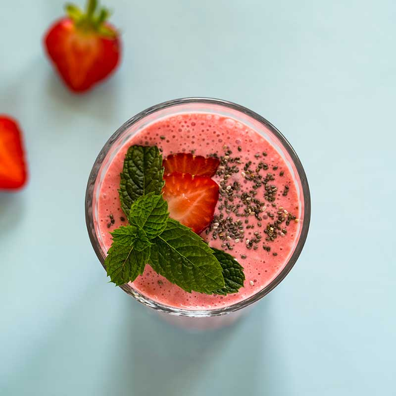 Spicy Strawberry Smoothie